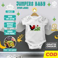 Setelan bayi / setelan pendek bayi / baju bayi karakter AYAM JAGO