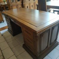 meja kerja, meja kantor, meja direktur bahan kayu jati