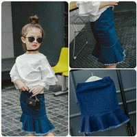 Baju Setelan Rok Jeans Anak Perempuan Impor ukuran 1-6tahun - 7 (1-3tahun)