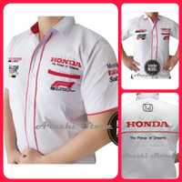 Seragam Komunitas Honda Hem Kemeja Otomotif Baju Bordir