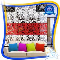 Dekorasi penyekat ruang vintage bahan PVC 1 set isi 4 1 warna