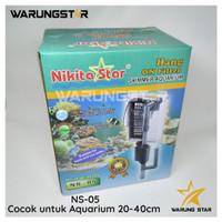 HANG ON FILTER NIKITA NS-05 / FILTER GANTUNG+SKIMMER AQUARIUM AQUASCAP