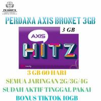Kartu Perdana Kuota Axis Aigo 3GB 60 hari - Reguler 24 Jam Aktifan