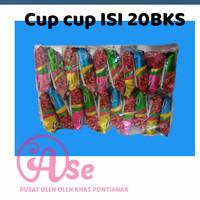 Krupuk Cup cup ngetop snack jadul isi 20bks