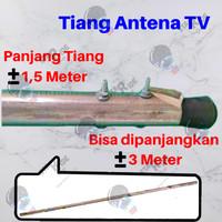 Tiang Anten Antena Antenna TV Digital Outdoor Luar Galvanis Anti Karat