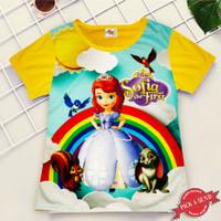 Kaos Baju Anak Cewek Printing Motif Sofia 1 - 12 Thn