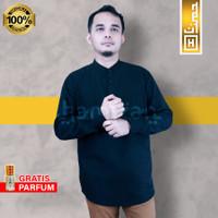 PREMIUM Baju Muslim Pria Kemeja Koko Kemko Distro Kekinian Panjang br1 - M