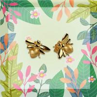 Honey Bee - Anting Studs Perak 925 Silver 18k Gold Plated Earring