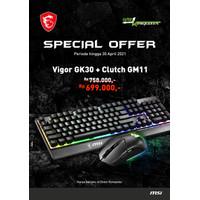 MSI Gaming Keyboard Vigor GK30 US + MSI Gaming Mouse Clutch GM11