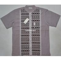 Baju Muslim Koko Pria Lengan Pendek COLE Marun Motif COC 65 ORIGINAL