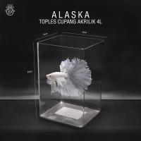 Toples Cupang 4 Liter Alaska / Toples Akrilik Mika 4L