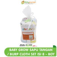 BABY GROW Sapu Tangan/ Burp Cloth Set isi 8 - Boy