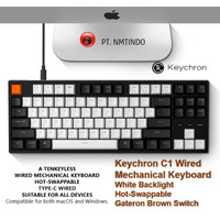 Keychron C1 Wired Hot Swappable White Backlight Gateron Brown Switch
