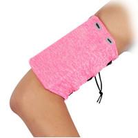 Running Armband dengan Kantong Resleting bisa untuk Handphone - Merah Muda