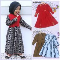 Gamis Pita Uk. 2-3 th / Gamis Muslim Anak perempuan Baju Ngaji