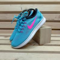 Nike Free Rn Running Shoes Gamma Blue Pink Blast