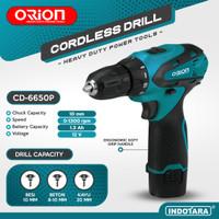Mesin Bor Baterai Cordless Drill Bor Tangan Baterai 12V Orion CD-6650P