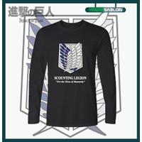 Kaos Baju Anime Attack On Titan Scouting Legion Lengan Panjang