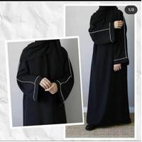 Abaya Gamis Arab Hitam Turkey Bordir