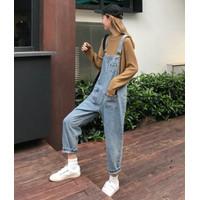 BAJU KODOK JUMPSUIT DRESS FASHION WANITA KOREA KEMEJA jeans vintage