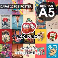 Poster Aesthetic Collage Wall - Japan Art Kawaii Series A5