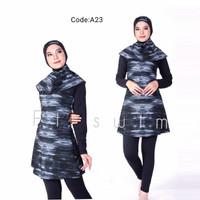 Baju renang muslimah dewasa/wanita/cewek/pakaian renang muslim remaja - A23, M