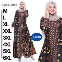 Baju Muslim Wanita Gamis Cewek Modern Atasan Dress Kattun Busuii Jumbo - cendrawasih sog, M