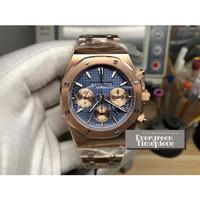 Audemars Piguet Royal Oak Chronograph Rose Gold Case & Bracelet Blue