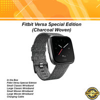 Fitbit Versa SE Special Edition Charcoal Woven Smart Watch
