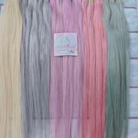 Hair Extension Warna BLONDE 70cm asli 100%/rambut sambung murah