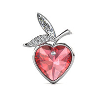 Love of Apple Brooch - Bros Crystal Premium Luvea Collection