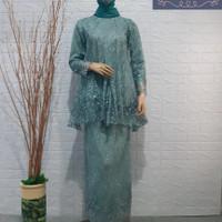 Stelan Baju Kebaya Tile Brukat Busui Muslim Modern Pesta Kondangan