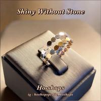Cincin Model Korea Plain Shiny Without Stone Kadar 750 Asli Emas