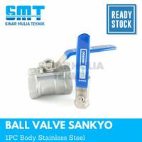 kran air ball valve stainless steel sankyo 1 (inch)
