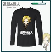Kaos Baju Anime Attack On Titan Annie Leonhart Lengan Panjang - S