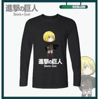 Kaos Baju Anime Attack On Titan Armin Arlert Lengan Panjang - S