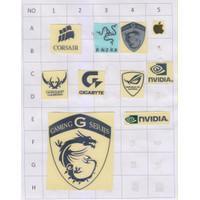 Stiker logo MSI Gaming Asus ROG Corsair NVIDIA dll