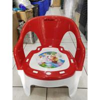 (Gojek/Grab) Bangku Sandar Anak Warna Plastik Happy Panda / Kursi Anak