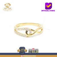 SBJ21 - cincin emas kuning asli wanita terbaru 17K/700 CMK158 R14