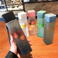 tumbler botol air minum transparan korea / travel camping bottle