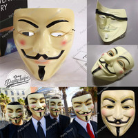 topeng anonymous coklat / mask party vendetta guy fawkes topeng hacker