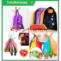 Tas Belanja Serbaguna Lipat Strawberry Baggu Bag Bisa Besar shopping