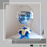 Special Edition Blue Rose Bloom Box Balon