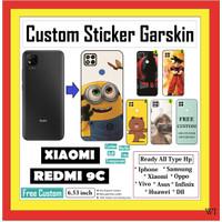 XIAOMI REDMI 9C ANTI GORES GARSKIN BELAKANG CARBON STIKER CUSTOM 02404