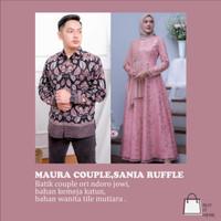 Maura Couple - Sania Ruffle Batik Couple Ori Ndoro Jowi Dnt/Baju batik