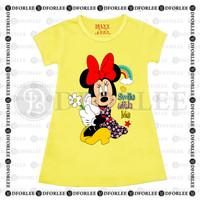 Daster Anak Perempuan / Kaos Dress Anak Perempuan Motif Minnie Mouse P - S