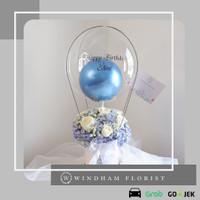 Special Blue horrtensia Bloom Box Balon