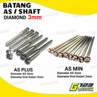 Batang AS Mata Diamond Gerinda Potong Mini Grinder Tuner