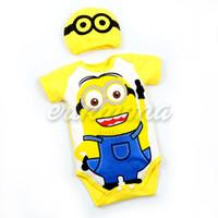 baju jumper bayi karakter minion lucu