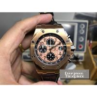 Audemars Piguet Royal Oak Offshore 2014 Gold Theme Watch Black Leather